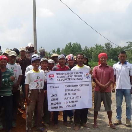 Desa Buko poso Realisasikan Program Padat Karya 30,45 Persen Dana Desa